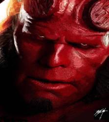 Hellboy MS Paint by ThatWeirdDude