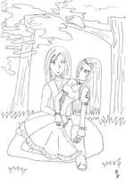 Moriko and Yamato by Enolla