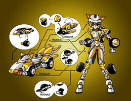 Daichi Steel saint new armor by Cecihoney