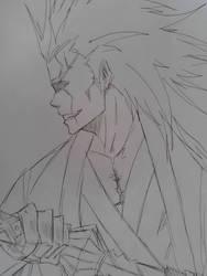 Kenpachi Zaraki (12 min sketch) by KarmenDaWulff
