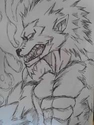 Day 5 Werewolf  by KarmenDaWulff