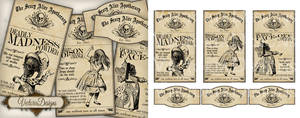 Alice in Wonderland Apothecary Labels - Halloween by VectoriaDesigns