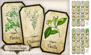 Printable Spice Labels by VectoriaDesigns