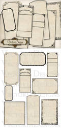 Printable Blank Apothecary Labels by VectoriaDesigns