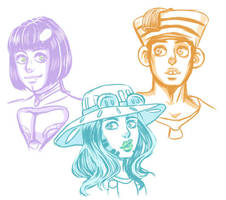 Jojo Sketches by GeeKy-AfAkAsi-NiNjA
