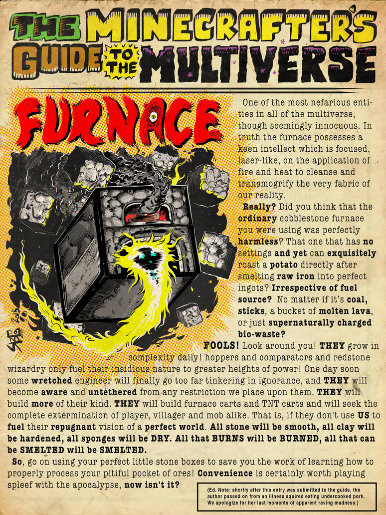 The Minecrafter's Guide to the Multiverse: Furnace by jasonWeek