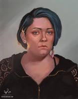 November 1 2016 Self Portrait by stevie-rae-drawn