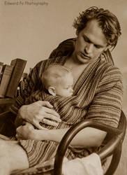 Edward and Baby Thatcher 1972 by FrodoPrime