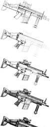 FN SCAR speed painting by VilePero