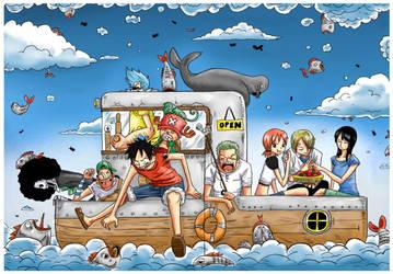One Piece : Raining Fish by JERRYABISTADO