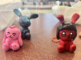 Chibi Bunny Figures by TyTheNaught