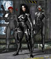 Cyber-Girls by Stone3D