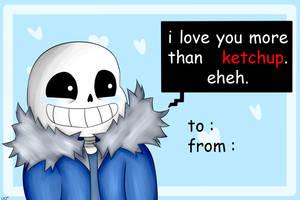Valentine Card - Sans by RenakoDream