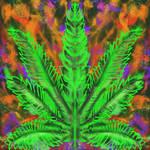 Cannabis Leaf Spirit by LelandGreen