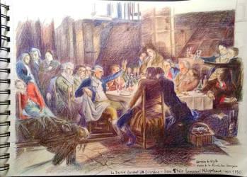 Le Dernier Banquet des Girondins by Cedono