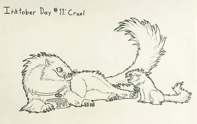 Inktober Day #11 Cruel by GarrettRS