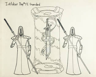 Inktober Day #13 Guarded by GarrettRS