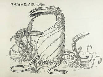 Inktober Day #17 Swollen by GarrettRS
