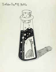 Inktober Day #18 Bottle by GarrettRS