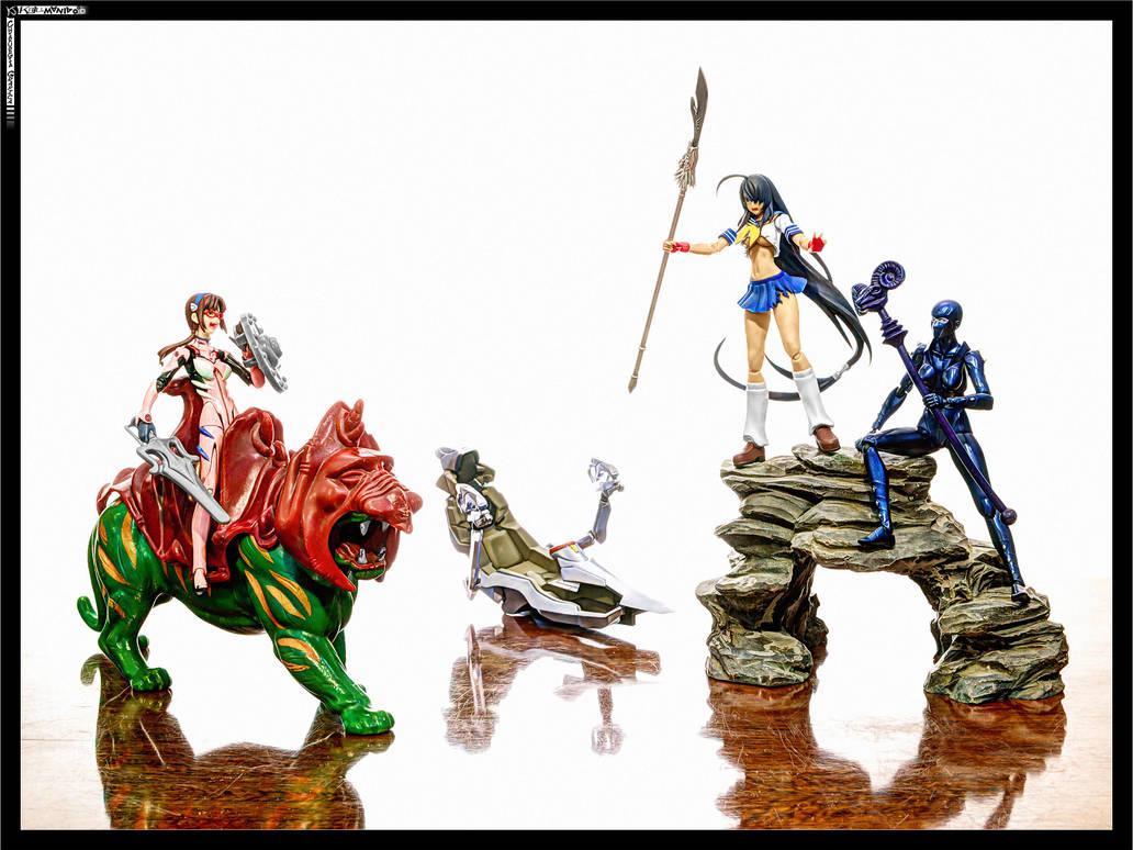 Lady Armaroid and Unchou Kan-u and etc by KaJu-MANIA
