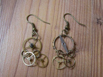 Steampunk Earrings by miaka-yuuki