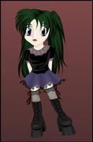 random girl with green hair by miaka-yuuki