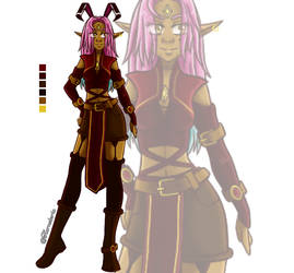 (Wakfu) Euphyllia's brakmarian outfit by Hornsteria