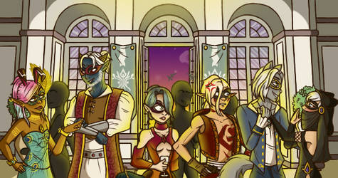 Bonta's masked ball by Hornsteria