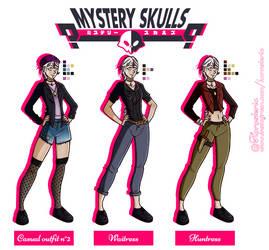 [Mystery Skulls OC] Kendra Burton, outfits by Hornsteria