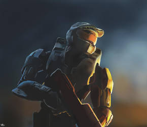 Halo 3 Practice painting by SeitenTaiseiKira