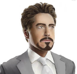 Tony Stark Portrait by SeitenTaiseiKira
