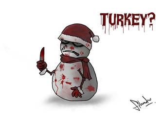 Turkey Snowman by stephensaw