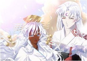 Yuki and Sesshoumaru by FanasY
