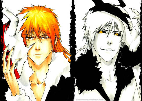 BLEACH: Hollow mode by Sideburn004