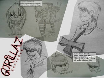 Gorillaz Style Sketches by gucci84