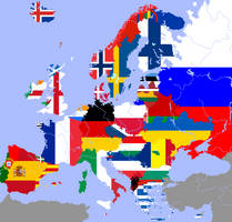 Linguistic States of Europe - Flag-Map by CaptainVoda