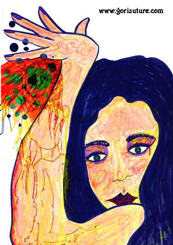 A Portrait of Danielle by Gori-Suture