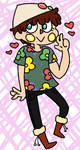 my unfashionable acnl character by ANABI0SIS