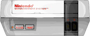 Nintendo Entertainment System (Pixel-art) by AloneAgainstPixels