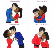 Kiss Meme - Alt Spock+Uhura by DKCissner