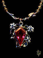 Kite in Cherry Tree Pendant by CosmicFolklore