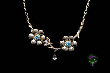 Aquarius Blossoms Necklace by CosmicFolklore