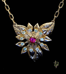 Burma Bloom Necklace by CosmicFolklore