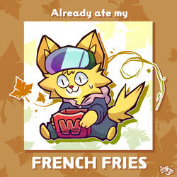 Already ate my french fries by StarjetiPlays