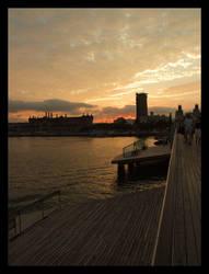 Barcelona Sunset by muratalibaba