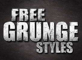 Free Photoshop Grunge Styles by designercow