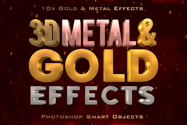 3DMetalGoldEffects by designercow