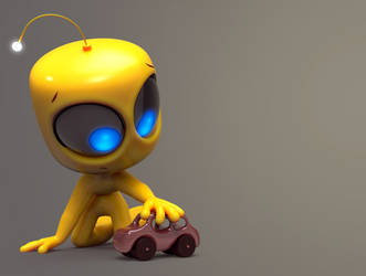 Zbrush Doodle Day 863 - Robot kid series 17 by UnexpectedToy