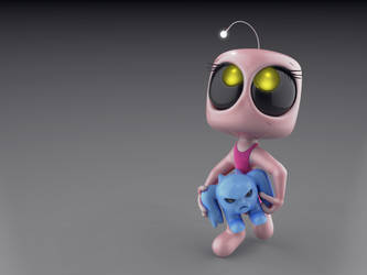 Zbrush Doodle Day 866 - Robot kid series 20 by UnexpectedToy