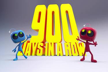 Zbrush Doodle Day 900 - celebrating 900 days by UnexpectedToy